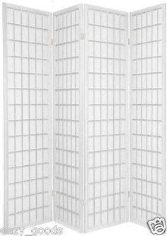 TOKYO JAPANESE HANDMADE ROOM DIVIDER / PRIVACY SCREEN - WHITE 4/6 PANELS