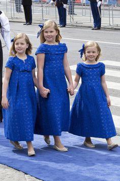 Catalia Amalia, Ariana y Alejandra, princesas de Holanda