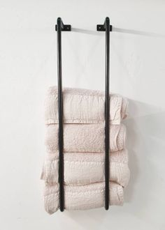 black metal towel rack for on the wall - Stoer Metaal