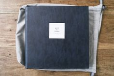 Queensberry Album   12x12 Distressed Leather in Midnight Blue with Cover Motif   Photography by Photography by Krishanthi, UK #queensberryalbums