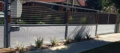 images of corrugate metal fences   ... as stainless steel cables, MINI ORB corrugated iron, steel and timber