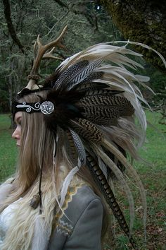 Goddess of the Dawn Feather Headdress