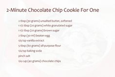 This is one of those 'I-need-a-cookie-right-now-or-I-die' recipes that can be prepared in almost no time. We all know that kind of situation, don't we? I definitely do, I confess. Make Chocolate Chip Cookies, Best Chocolate, Meals For One, Just Desserts, Cookie Recipes, Baking Recipes, Food To Make, Sweet Treats, Chips