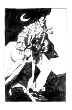Comic books, movies, games blog everything related to fiction source Presented by LEAGUE OF FICTION: Mike Mignola sketchbook 2008 More Drawings