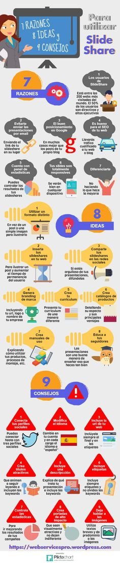 7 razones, 8 ideas y 9 consejos para aprovechar silideshare #infografia