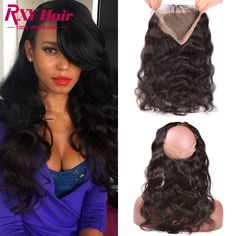 360 Lace Frontal Full Lace Band Frontal 7A Indian Virgin Hair Body Wave Natural Hairline 360 Lace Frontal Closure With Baby Hair