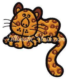 Spotted Leopard Applique
