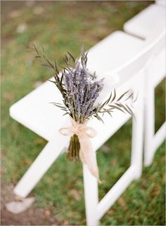 lavender aisle decor #weddingceremony #lavender #weddingchicks http://www.weddingchicks.com/2014/02/28/green-garden-wedding/