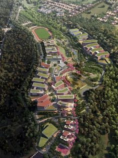 Image 10 of 12 from gallery of Universidad del Istmo Master Plan and Implementation / Sasaki Associates. Courtesy of Sasaki Associates University Architecture, Urban Design Plan, Tourism Development, Urban Fabric, Site Plans, Built Environment, Master Plan, Urban Planning, Landscape Architecture