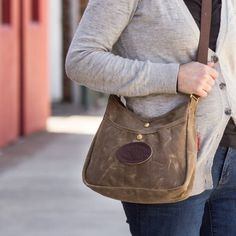 Is it a purse? Is it a satchel? A haversack? Tote? We built it rugged, you decide what to call it and where to carry it. 557 558 Waxed canvas Crescent Lake Shoulder Bag by Frost River.
