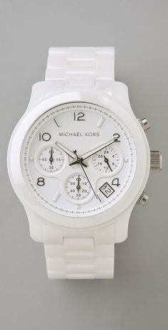 All white michael kors watch!!!