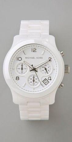 All white michael kors watch!!!