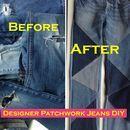 Designer Patchwork Jeans Remake