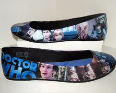 Doctor Who Flats  Made to Order by custombykylee on Etsy, $50.00