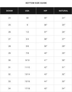 182480b07f8 Find your perfect fit with KanCan USA size chart