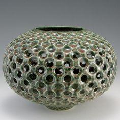 Bellven Vase with Frogskin Glaze