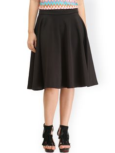 Buy Cation Black Flared Skirt -  - Apparel for Women from Cation at Rs. 599