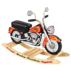 If the grandparents saw this it would probably be the first gift haha! KidKraft Harley Davidson Roaring Softail Rocker