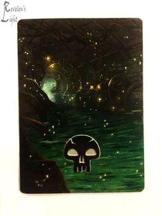 Swamp - Full Art Land - MTG Alter - Revelen's Light Altered Art Magic Card #WizardsoftheCoast