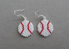 Béisbol pendientes perlas Delica