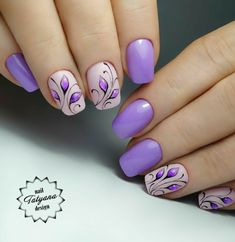 spring nails - Best Purple Nails Ideas You Should Try Now - Purple Nail Art, Purple Nail Designs, Short Nail Designs, Nail Designs Spring, Acrylic Nail Designs, Purple Nails With Design, Christmas Nail Art Designs, Nails Design, Christmas Nails