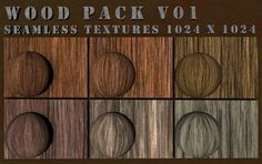 Wood Texture Pack V01 - W3DC