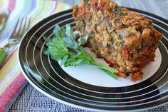 How about this BBQ Lentil Oat Loaf for your healthy holiday menu? #easter #vegan #meatloaf