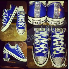 These cuties would make a great gift for any young lady. Available in all women sizes . Royal blue Converse are a little more expensive because