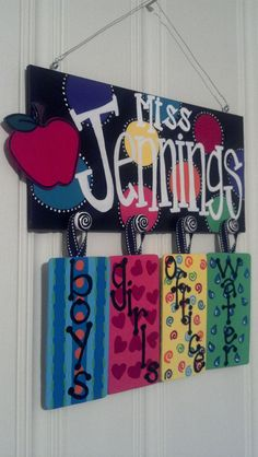 Personalized Teacher Passes for the Classroom by GingerH13 on Etsy, $50.00