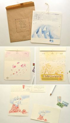 watercolor illustrations by Le Petit Elefant and lettering/layout by Paper & Type.