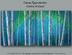 Large wall art Canvas art print of Birch tree por ArtFromDenise