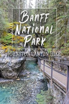 Johnston Canyon is easily accessible by all skill levels and makes for an easy 2 hour hike in Canada's Banff National Park, Alberta. With a beautiful walkway and waterfalls, it's a fantastic day trip or stop on your camping trip Canada National Parks, Banff National Park, Places To Travel, Travel Destinations, Canadian Travel, Canadian Rockies, Johnston Canyon, Hiking Photography, Camping And Hiking