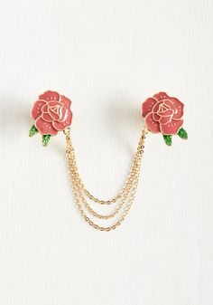 Make Bloom for Me Collar Pin. No neckline is too crowded for a style boost from this floral collar pin! #coral #modcloth