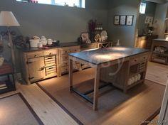 Lee&Lewis Kitchen Keukeneiland Dennehout Met Natuurstenen Gootsteen 180
