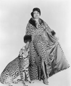 TWO PEAS IN A POD….JOSEPHINE & EARTHA Eartha Kitt & Josephine Baker with there pet leopards.