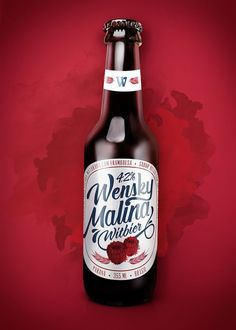 Wensky Malina Beer on Packaging of the World - Creative Package Design Gallery