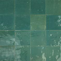 Zellige, mattonelle marocchine smaltate in un'ampia gamma di colori perlati