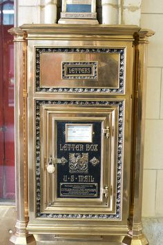 Lobby mailbox, Healey Building, Downtown Atlanta, Georgia  by lightturnstolifephotography