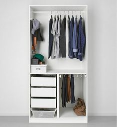 9 Storage Ideas For Small Closets 9 Storage Ideas For Small Closets // Rather than getting a custom closet makeover, install a storage system that can be configured in various ways and can be changed as your wardrobe changes. Small Closet Storage, Tiny Closet, Small Closet Organization, Small Closets, Bedroom Storage, Organization Ideas, Ikea Storage, Bedroom Organization, Shoe Storage