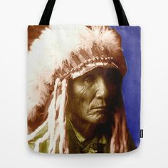 Calico-Oglala Sioux 2 Tote Bag by The Griffin Passant - $22.00