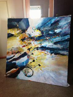 a new large mixed media painting (60x60in), by Dan Bunea www.danbunea.ro
