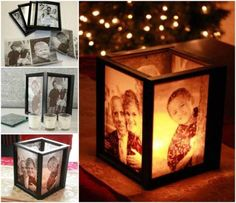 DIY Lamp Tutorial | Picture Frame Ideas at http://diyjoy.com/craft-ideas-diy-picture-frames