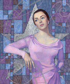 """Elizabeth Taylor"", portrait from the  ""Old Hollywood"" series #celebrity #portrait #contemporary #art #Elizabet #Taylor"