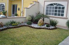 One of the most used decorative elements in the garden design . Garden Edging, Garden Borders, Front Gardens, Outdoor Gardens, Outdoor Landscaping, Front Yard Landscaping, Landscaping Ideas, Dream Garden, Garden Planning