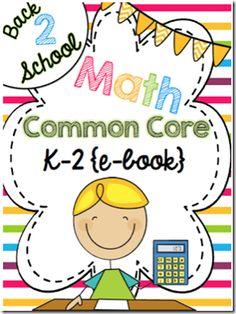 Free! Common Core Math e-Book for K-2!
