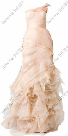 2013 New Blush Pink Gossip Girl Blair's Junior Bridesmaid Dresses Long One Shoulder Organza Mermaid Celebrity Dresses-in Bridesmaid Dresses ...
