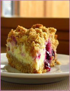 Готовить просто !: Пирог с творогом, ягодами и овсянкой.