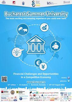 S-a dat startul aplicaţiilor pentru Bucharest Summer University Summer University, Challenges And Opportunities, Bucharest, Romania, Student, Mai, Logo, Logos, Environmental Print