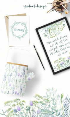 Watercolor Wild Herbs - Illustrations