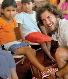 Blake Mycoskie is a great man for many reasons - he made a huge success of the one for one movement, created a beautiful product that inspired a generation and gave himself this official title: The Founder & Chief Shoe Giver Of TOMS Shoes.